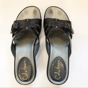 Cole Haan black sandals. Sz 7.5.